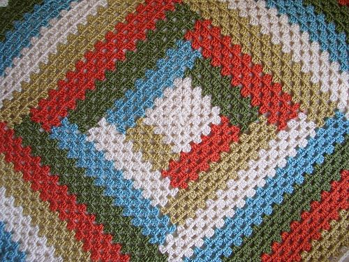 Crochet Log Cabin Afghan Free Pattern Traitoro For