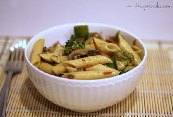 Recipe: Stir Fry Vegetables with Penne - This Gal Cooks