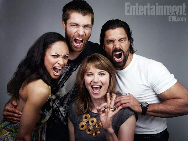 ... 2012 - Lesley-Ann Brandt, Lucy Lawless, Manu Bennett and Liam McIntyre