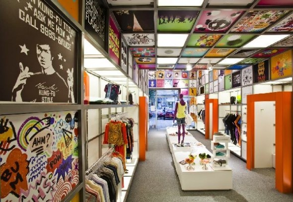 Cool-Ceiling-Design-at Store Concept Interior Ideas Called Disco