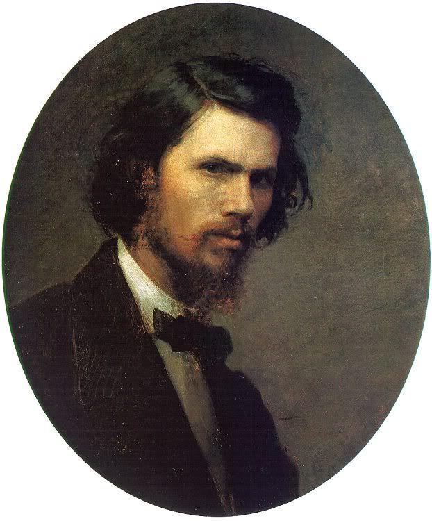 Kramskoi i n self portrait 1867