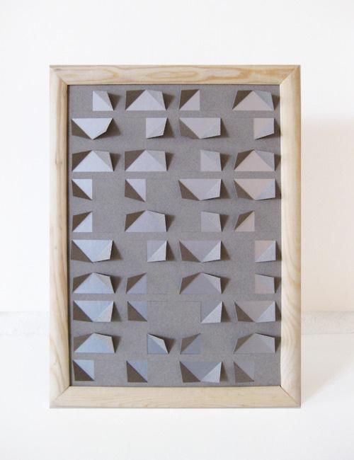 kind of style - missing link, folded paper artwork