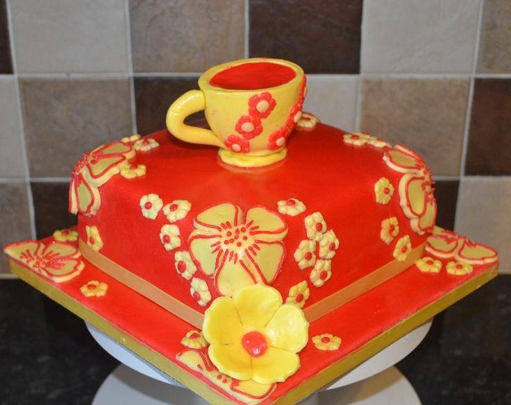 Cake Decoration Ideas Pinterest : Mug theme cake