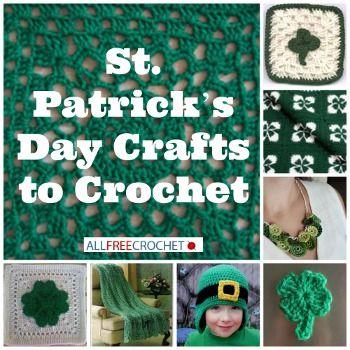 crochet st patrick's day garden flag