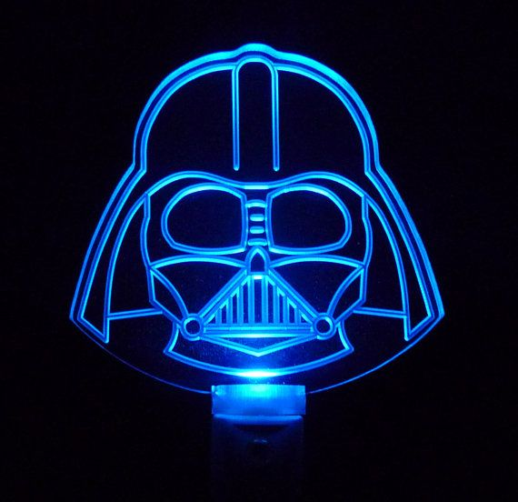 star wars night light darth vader helmet by uniqueledproducts geeky goodness pinterest. Black Bedroom Furniture Sets. Home Design Ideas