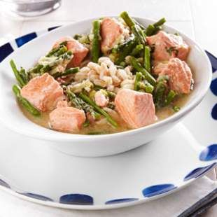 Wednesday: Salmon & Asparagus Farro Bowl | from Healthy Weekly Dinner ...