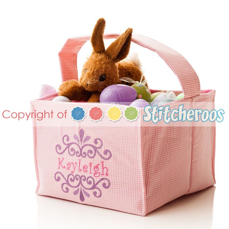 Cute Personalized Easter Baskets Easter At
