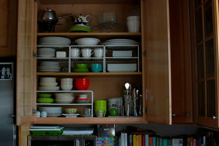 organize kitchen cabinets home diy pinterest