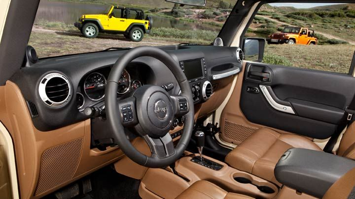 jeep rubicon brown leather interior cars and rides pinterest. Black Bedroom Furniture Sets. Home Design Ideas