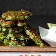 Broccoli Parmesan Fritters Recipe | Culture: the word on cheese