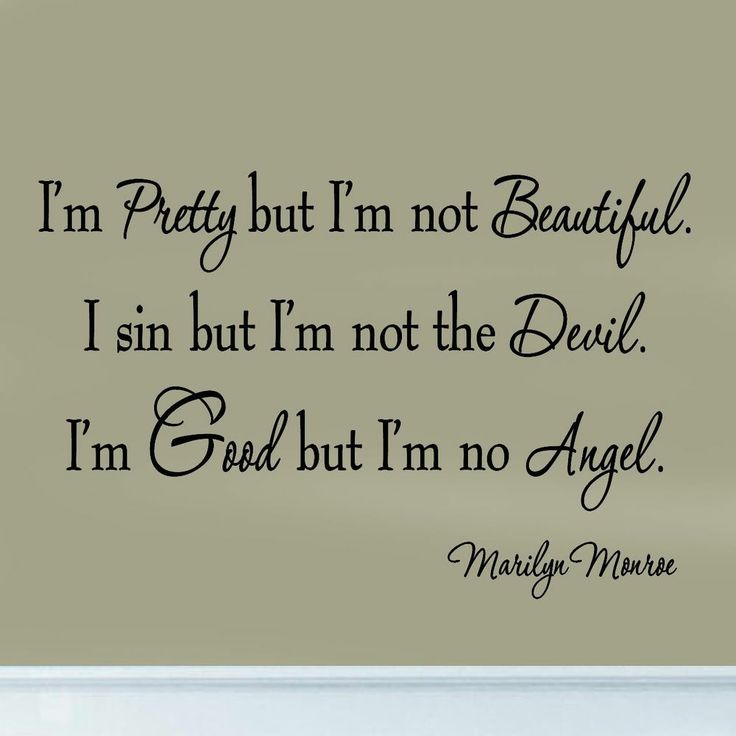 I'm Pretty But I'm Not Beautiful Marilyn Monroe Decal