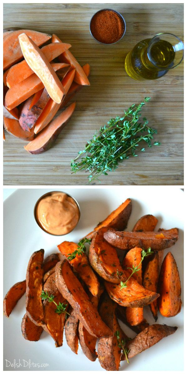 Cajun Spiced Sweet Potato Wedges | Delish D'Lites