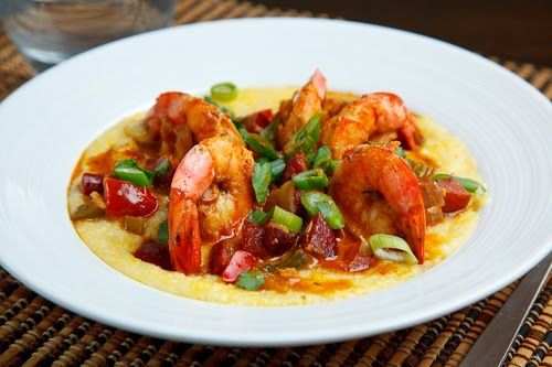 Mardi Gras: It's What's For Dinner tonight Shrimp and Andouille Grits