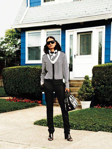 Windowpane checks street style inspiration