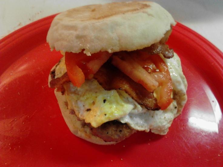 Turkey sausage breakfast sandwich!! | Recipes | Pinterest