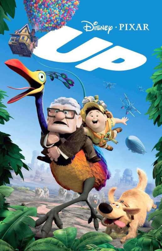 Up is a 2009 American computer-animated comedy-adventure film produced by Pixar, distributed by Walt Disney Pictures and presented in Disney Digital 3-D. The film was director Pete Docter's second film, the first being 2001's Monsters, Inc. The film centers on an elderly widower named Carl Fredricksen and an earnest young Wilderness Explorer named Russell who fly to South America by floating in a house.