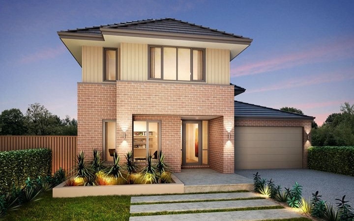 Metricon home designs the st clair traditional facade for Home designs victoria