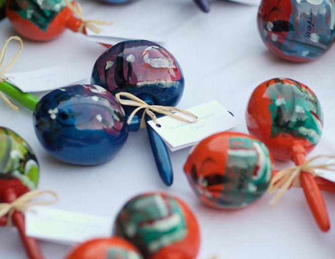 maracas, favor, escort card, music, instrument