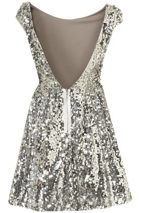 Sparkle dress w/ low cut back