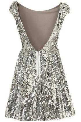 Sparkle dress w/ low cut back
