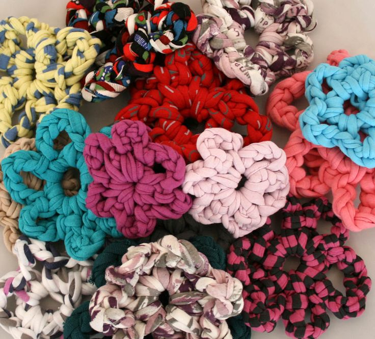 Free Crochet Patterns Zpagetti : Crochet Flower - Zpagetti Yarn - Free Pattern - PDF Version T-Shirt ...