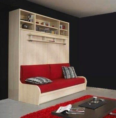 pin by inside 75 on armoire lit gain de place pinterest. Black Bedroom Furniture Sets. Home Design Ideas