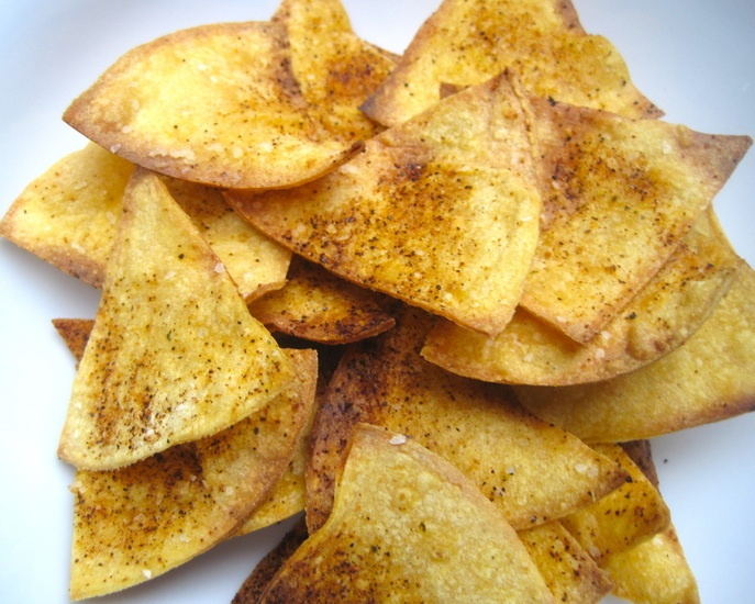 easy peasy homemade tortilla chips #glutenfree #recipe