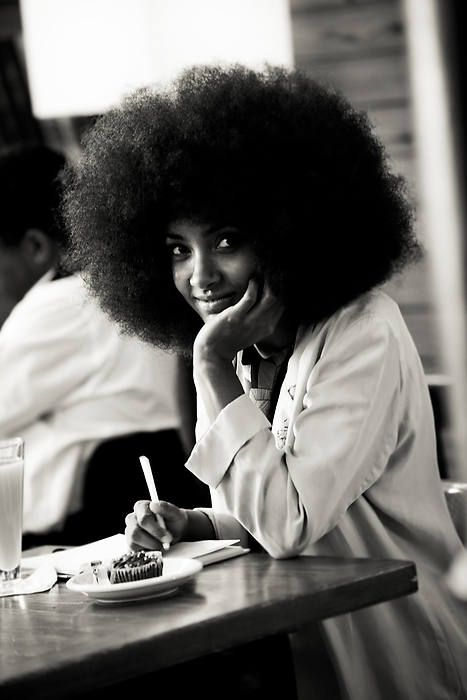 myblack-is-beautiful:  My screen saver on my laptop. The beautiful, talented, BIG afro-ed Esperanza Spalding:) Her afro gives me life!