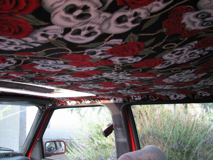 Diy headliner for car interior fabric lv gucci coach f for Gucci car interior fabric for sale