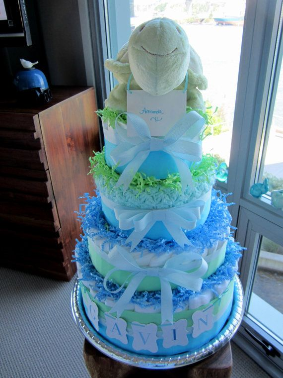 Pin by lisa fuller on shinyhippo diaper cakes pinterest for Baby shower diaper decoration ideas