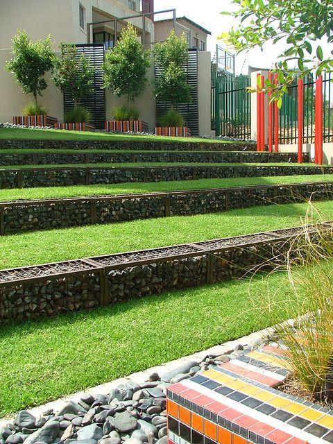Gabion Retaining Wall : Gabion Retaining Wall  Outdoor Living  Pinterest