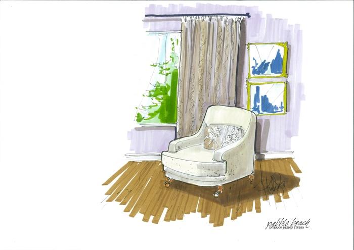 Pebble Beach Interior Design Studio Illustration Pinterest