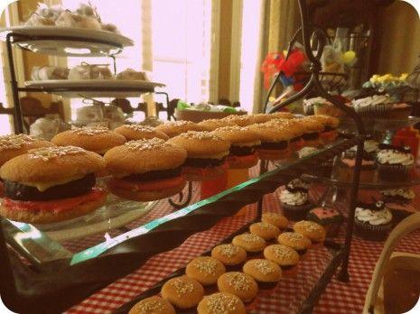 hamburger cookie 8 | Let's Party | Pinterest