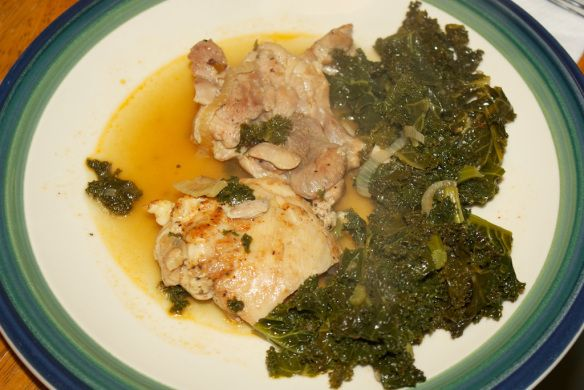 Googles braised chicken and kale | recipes | Pinterest