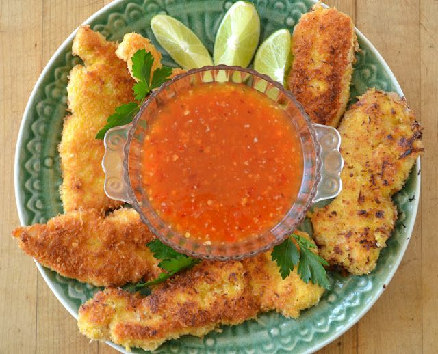 Coconut Chicken with Sweet Chili Dipping Sauce - The View from Great ...