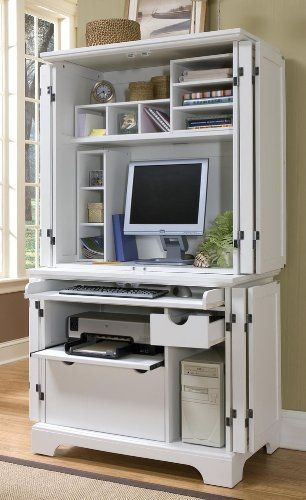 original computer armoire with pocket doors