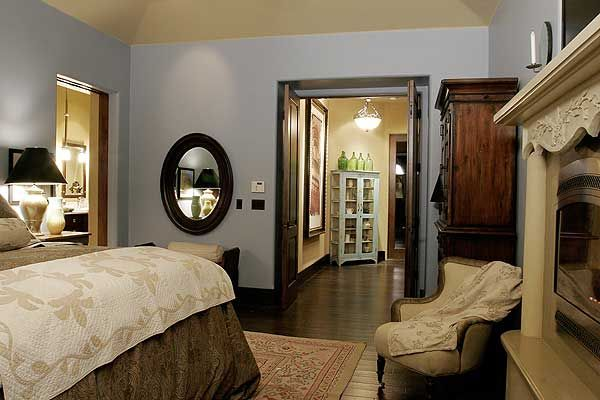Energy efficient french country design for Country master bedroom designs