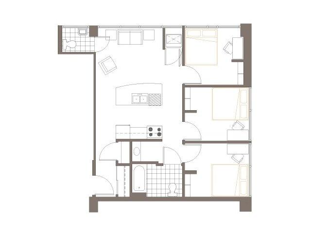 3 bedroom 1 5 bath layout 2040 lofts love pinterest for 1 bed 1 5 bath