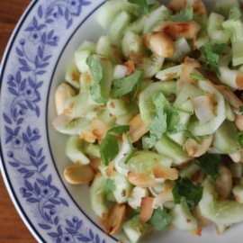 Cucumber Peanut Salad | Side Dishes Galore | Pinterest