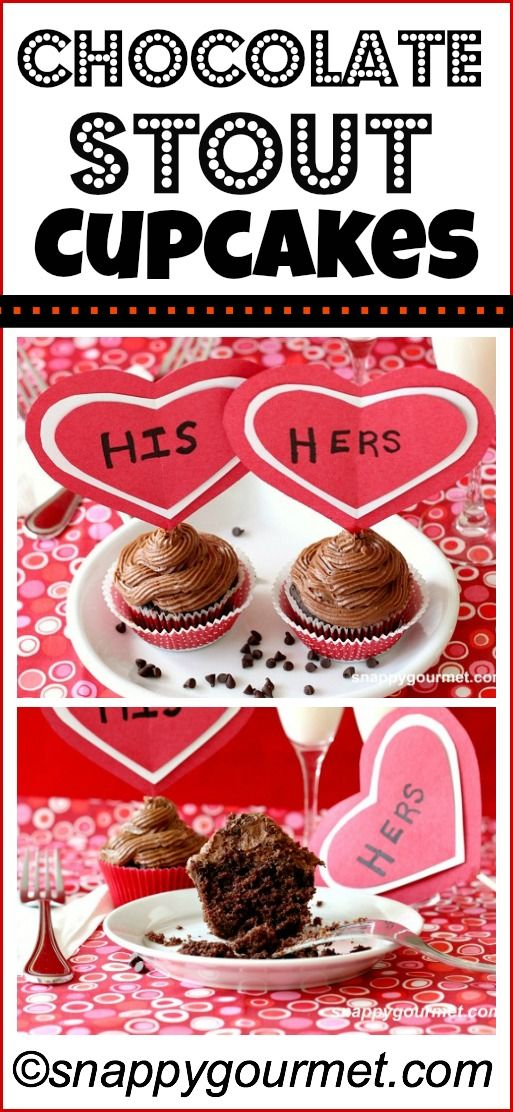 Chocolate Stout Cupcakes - made with chocolate stout beer and a cake ...