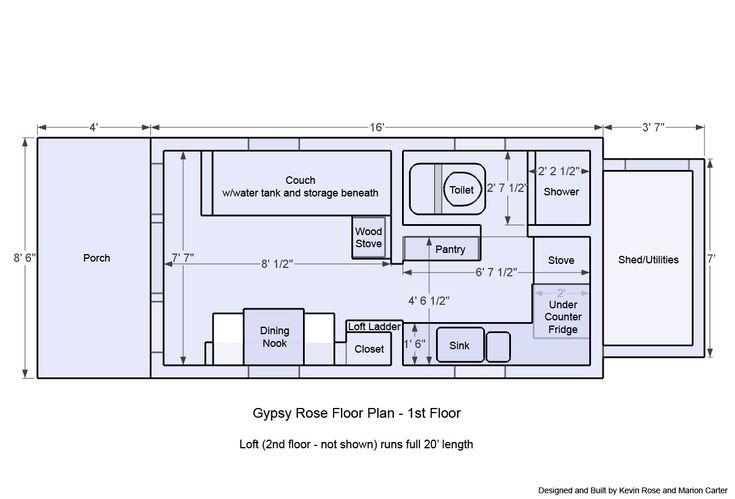 Micro House Floor Plans 12x20 Gypsy Rose Plan Prefab Studiooffice Ideas Pinterest