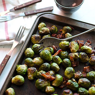 Bacon Roasted Brussels Sprouts | Gluten Free Me | Pinterest