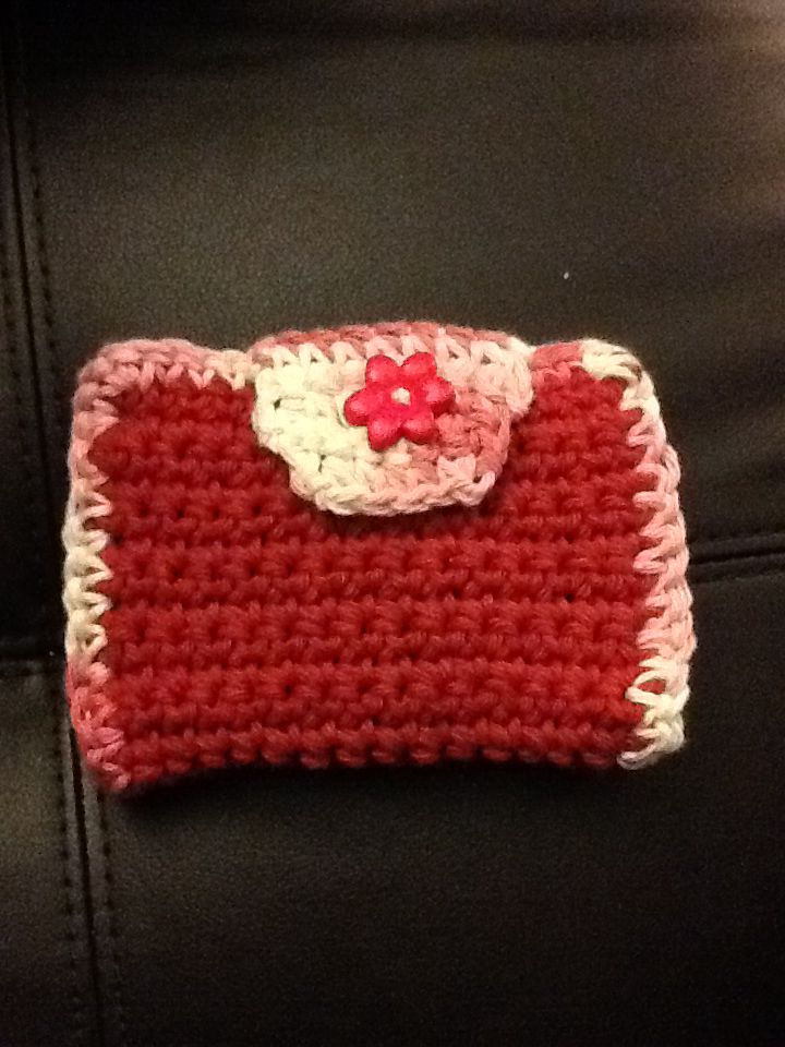 Crochet Cell Phone Purse : Crochet wallet and cell phone case. Crochet Purses Pinterest