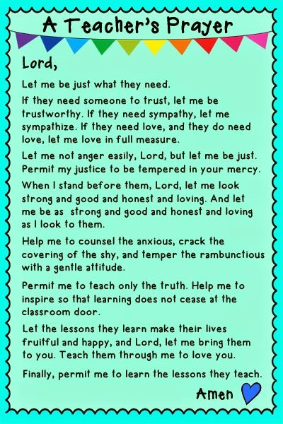 A Teacher's Prayer: Everybody Can Learn | Education ...