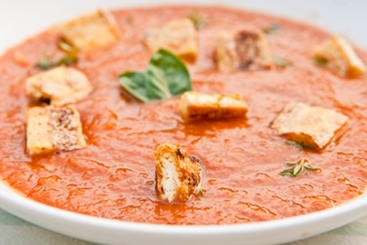 Roasted Tomato + Grilled Corn Soup | Soup for the Soul | Pinterest