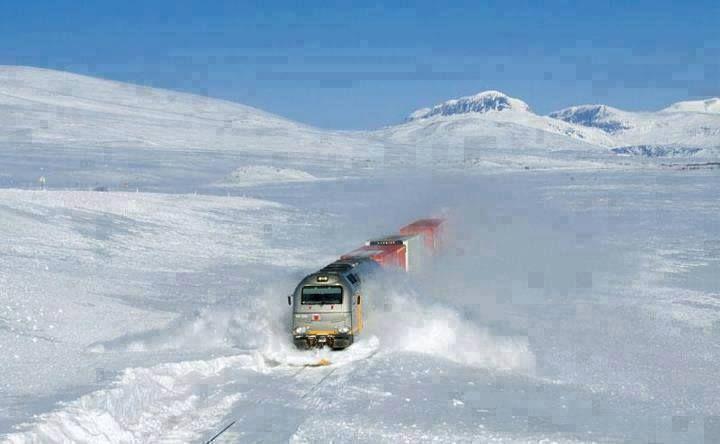 Railway line in Norway