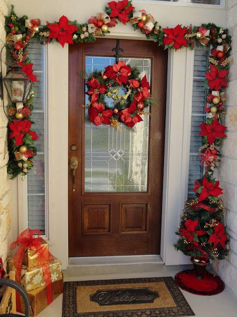 Christmas Decor For Bedroom Door : Front door christmas decor