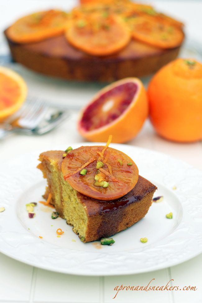 Olive Oil & Orange Cake with Pistachios   Recipes - sweet stuff   Pin ...