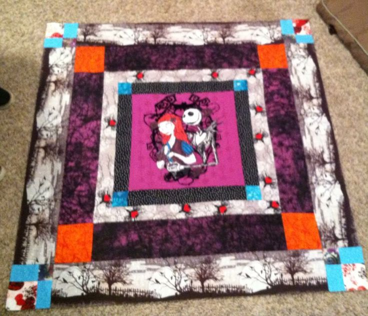 nightmare before Christmas baby quilt | Geek baby stuff I love | Pint ...