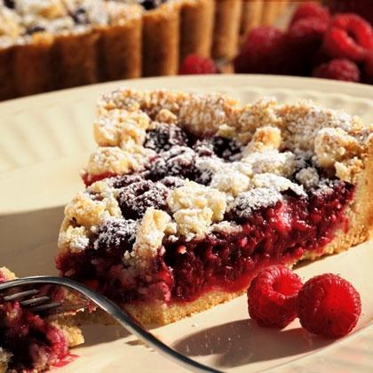 Raspberry-Almond Crumb Tart   Food   Pinterest